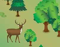 Science Project - Isometric Forest - Illustration