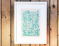 """Isla Verde"" letterpress print"