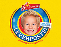 Stabburet Leverpostei (Packaging Design)