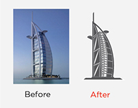 Burj Al Arab Vectorizing