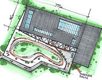 Karting. Sketches