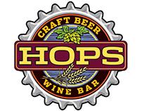 Hops Craft Beer and Wine Bar Logo