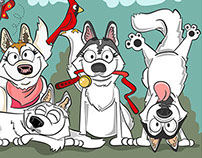 Holly & the Huskies Illustration