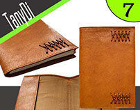 Leather Notebook Movable Cover