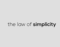 The law of simplicity.