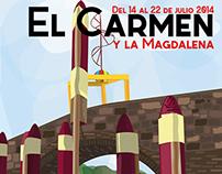 Cartel ganador fiestas del carmen y la magdalena 2014