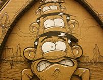 Cardboard illustrations B