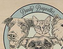 Dandy Dogwalker Logo for Print Media