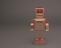 3D Gold Robot