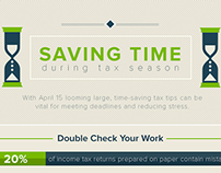Saving Time During Tax Season - Infographic