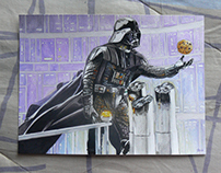 Come to the dark side, we have cookies. Watercolor.