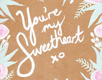 You're my Sweetheart // Hand Painted Design