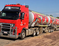 Truck Decals for Caltex