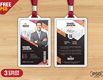 Office Employee Photo Identity Card PSD