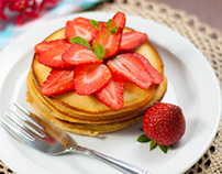 Pancakes & Strawberries