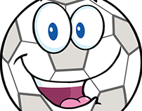 Soccer Ball Cartoon Character