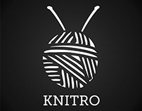 KNITRO logo and print design