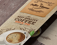Bi-fold Coffee Shop Menu Template