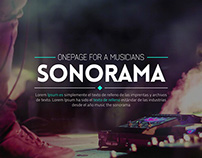 Sonorama  Music Band & Musician Theme