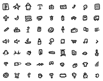 100 free hand made icons