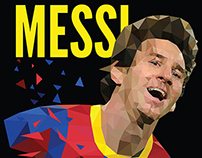 Lionel Messi Low poly Poster