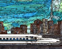 panorama Series Tokyo Shinagawa Station~morning~