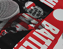 Sérigraphie - Poster « Battle Human Beatbox »