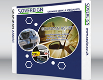 Sovereign Automotive Curved Pop-up Stand Design
