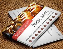 "Prepaid Cards for Mokka-Kaffi Café ""MokkaKort"""