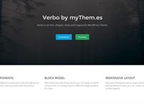 Verbo - free clean and responsive WordPress Theme