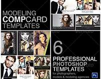 Model Comp Card Photoshop Template