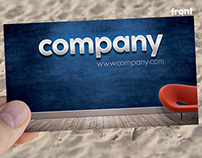 """Business Card """"On The Wall"""" Template"""