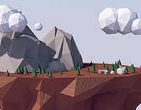 Low Poly Landscape Test