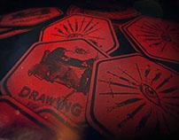 DRAWING FIGHT CLUB LOGO BRAND DESIGN
