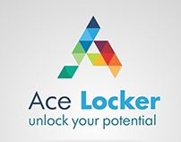 "Logo design for ""Ace Locker"""