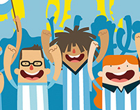 Character´s illustration - World Cup Brazil 2014