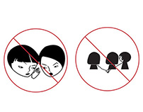 Stop the Disturbing Actions Stickers