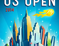 2014 US Open Tennis Theme Art