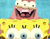 Three Eyed Sponge & Patrick