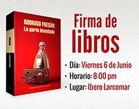 Firma de Libros  Rodrigo Fresán | Ibero Larcomar