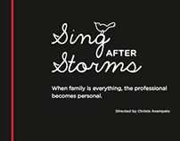 Visual design: Sing After Storms