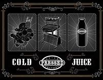 COLD PRESSED JUICE POSTCARD