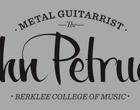 John Petrucci Lettering