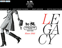Coach-Legacy Rich Media Campaign Site