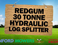 Stanford Mowers - Redgum Log Splitter - YouTube