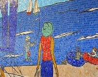 San Diego Airport Mosaic Mural