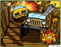 Adobe Flash Game: Crazy Wheels