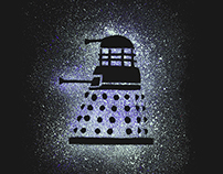 Dalek Ink Splatter / T-Shirt
