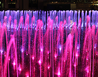 Kings Cross Granary Square Fountains
