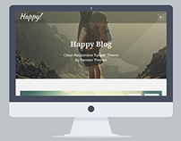 HAPPY - Clean Responsive Tumblr Theme